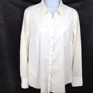White Ann Taylor button up blouse